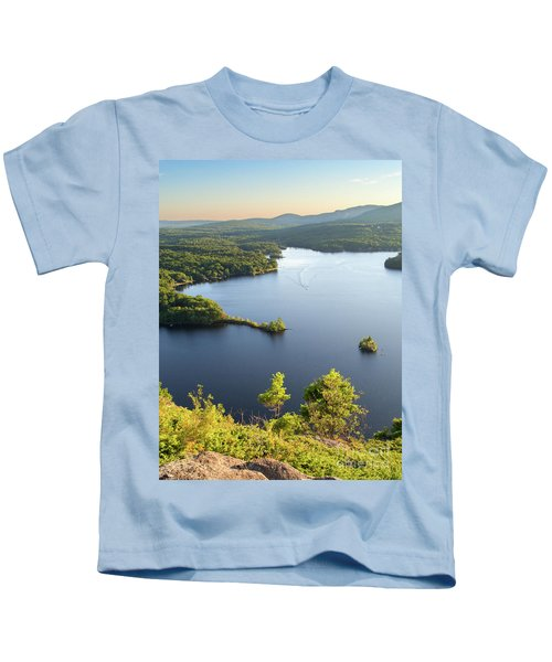 Lake Megunticook, Camden, Maine  -43960-43962 Kids T-Shirt