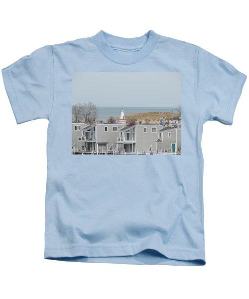 Lakeside Lighthouse  Kids T-Shirt