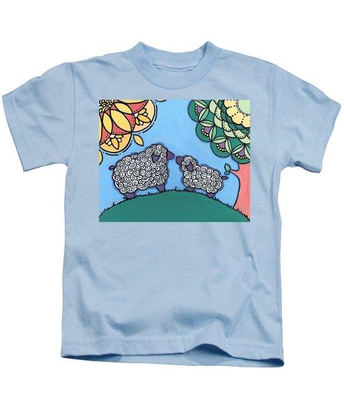 Lamb And Mama Sheep Kids T-Shirt