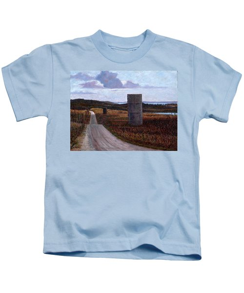Landscape With Silos Kids T-Shirt