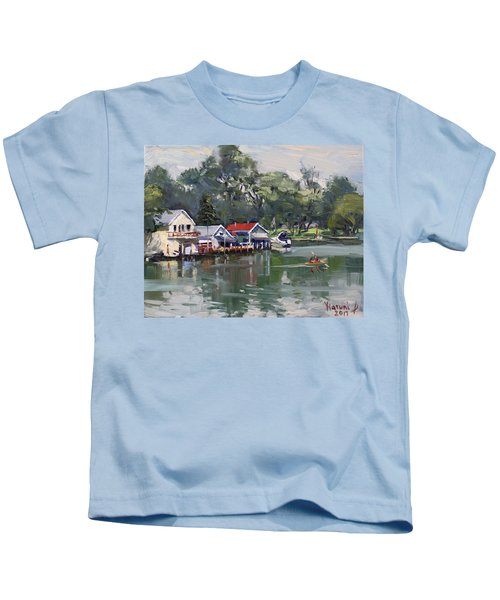 Late Afternoon By The Canal Kids T-Shirt