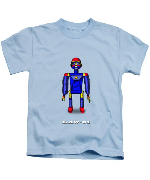 Law 01 Robot Kids T-Shirt