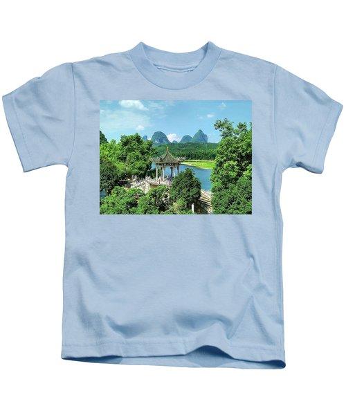A View In Yangshuo Kids T-Shirt
