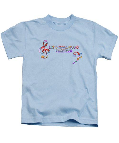 Let's Make Music - Blue Kids T-Shirt