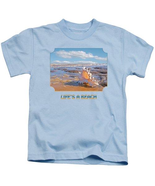 Life's A Beach - Murex Ramosus Seashell Kids T-Shirt