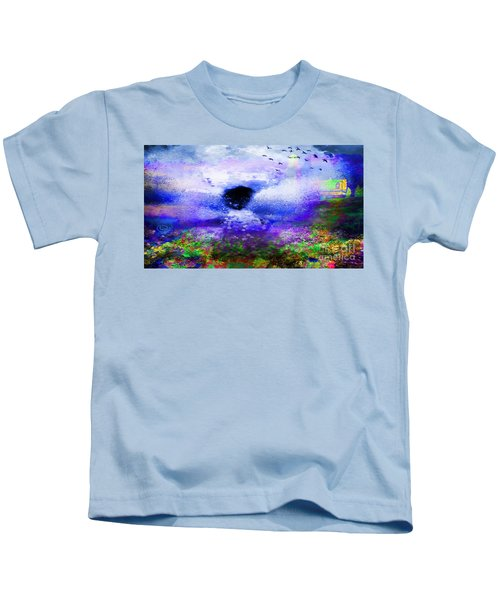 Lighthouse Angel Purple In Hotty Totty Style Kids T-Shirt