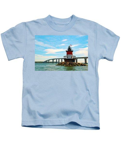 Lighthouse On A Small Island Kids T-Shirt