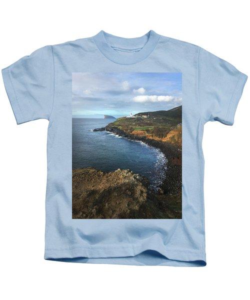 Lighthouse On Terceira Kids T-Shirt