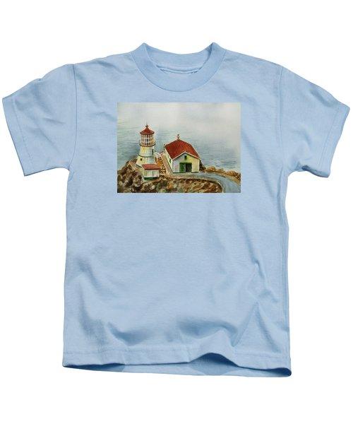 Lighthouse Point Reyes California Kids T-Shirt