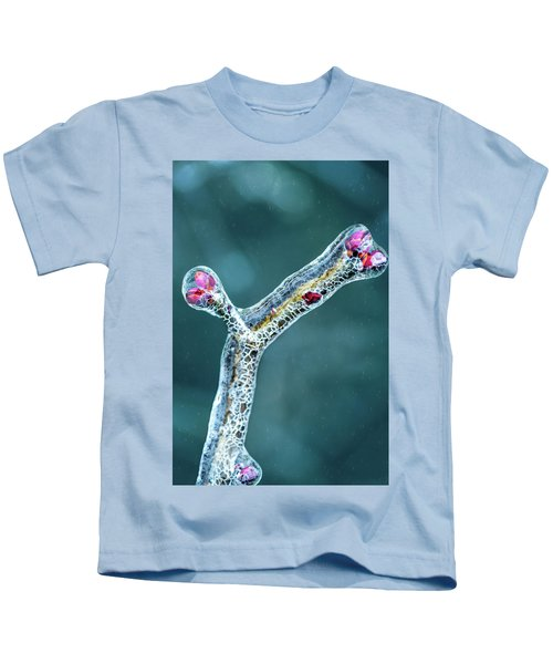 Lilac Buds In Ice Kids T-Shirt