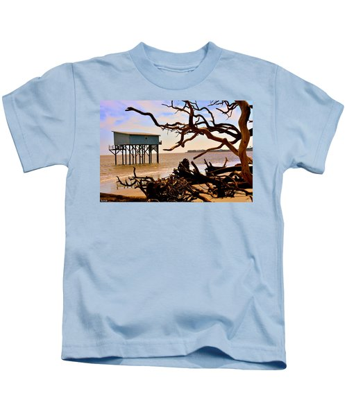 Little Blue Hunting Island State Park Beaufort Sc Kids T-Shirt