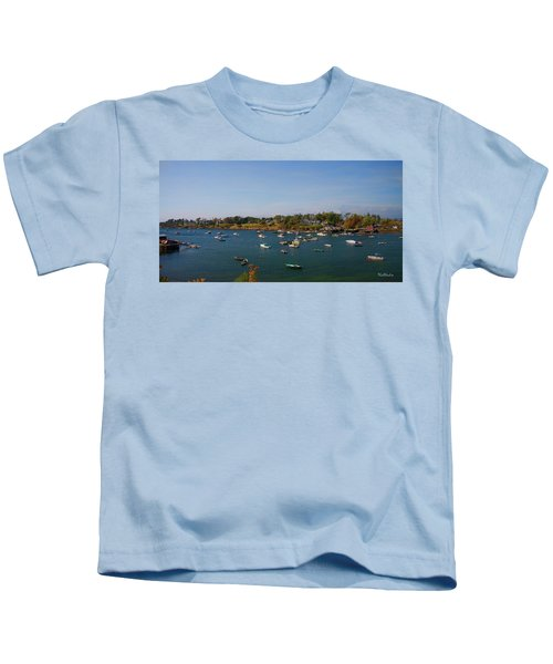Lobster Boats On The Coast Of Maine Kids T-Shirt
