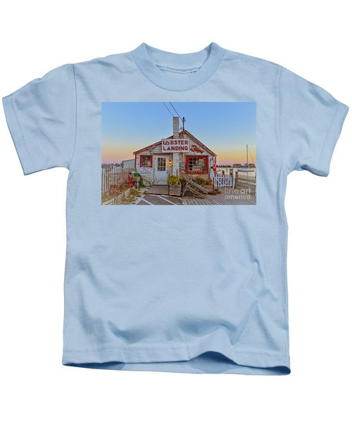 Lobster Landing Sunset Kids T-Shirt