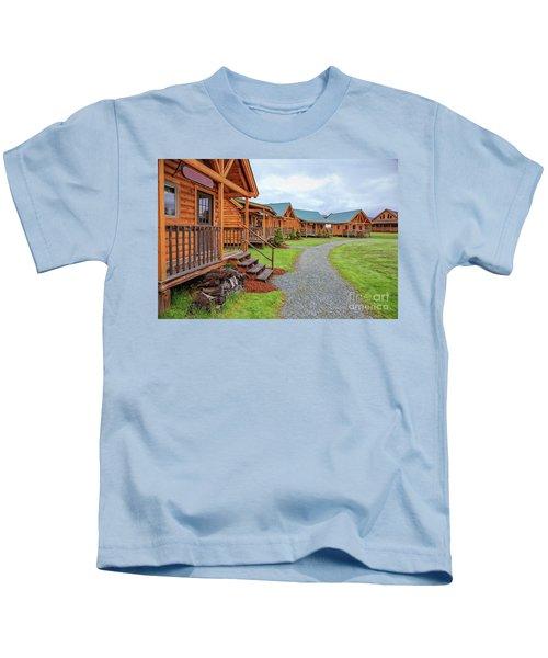 Log Cabins Kids T-Shirt