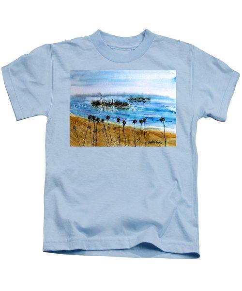 Long Beach Oil Islands Before Sunset Kids T-Shirt