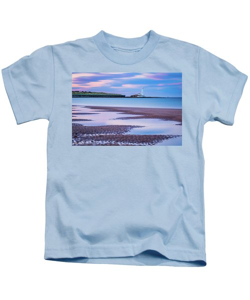 Long Exposure At Whitley Bay Beach Kids T-Shirt