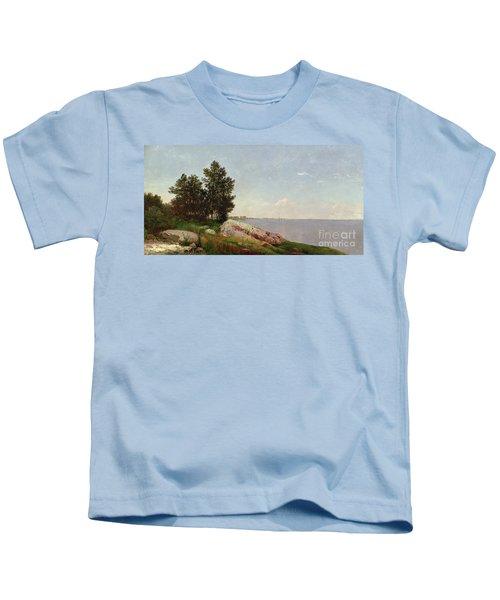 Long Island Sound At Darien Kids T-Shirt