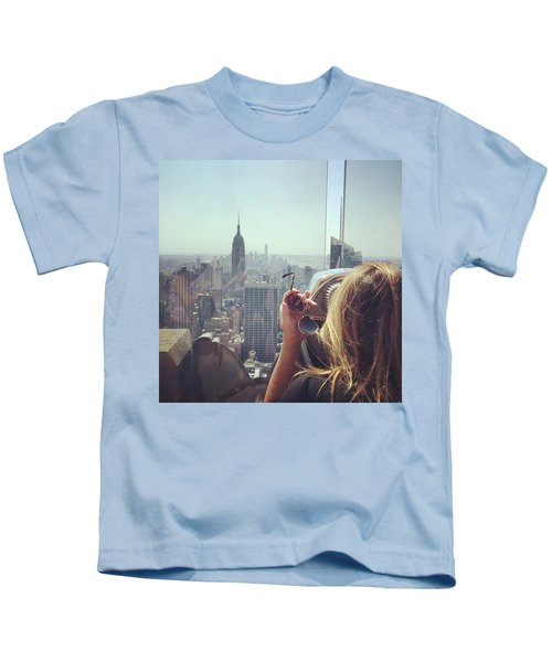 Looking Downtown In Style. #nyc Kids T-Shirt