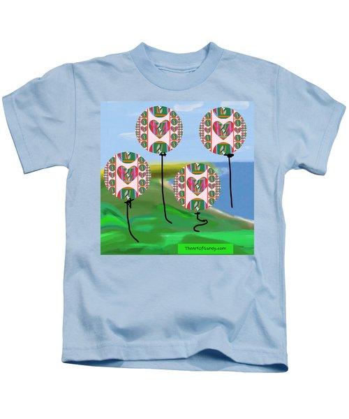 Love Balloons Protecting Guam Kids T-Shirt