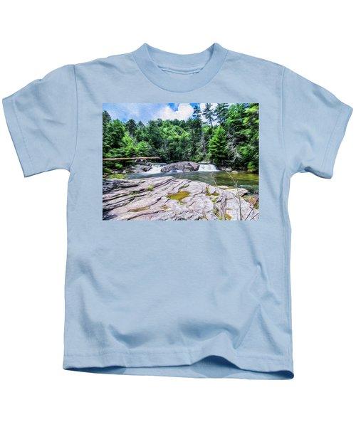 Lower Waterfall View Kids T-Shirt