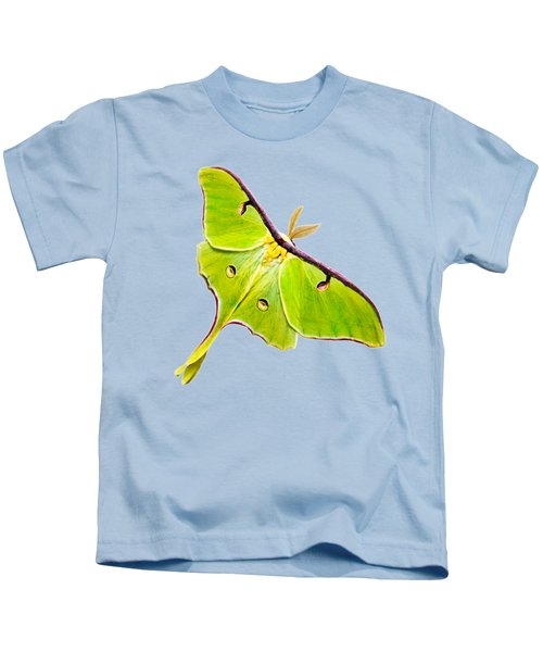 Kids T-Shirt featuring the photograph Luna Moth by Christina Rollo