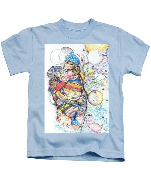 Lunas Y Estrellas Perdidas- Sombra De Arreguin Kids T-Shirt