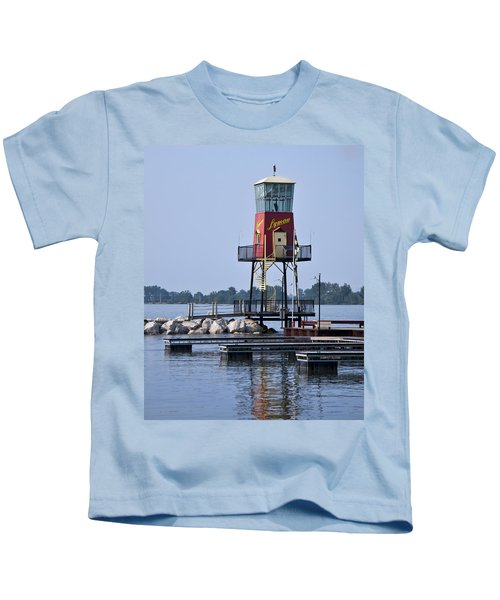 Lyman Harbor Lighthouse Kids T-Shirt