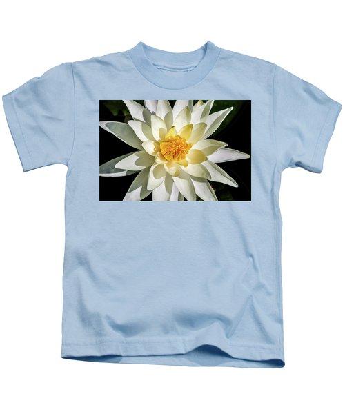 Macro Water Lily Kids T-Shirt