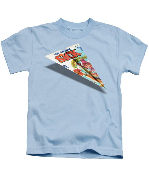 1974 Sick Mad Paper Airplanes Kids T-Shirt
