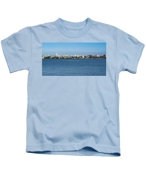 Madison Skyline From Picnic Point Kids T-Shirt