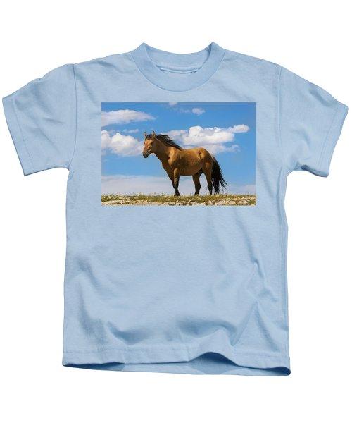 Magnificent Wild Horse Kids T-Shirt