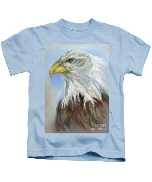 Majestic Bald Eagle Kids T-Shirt