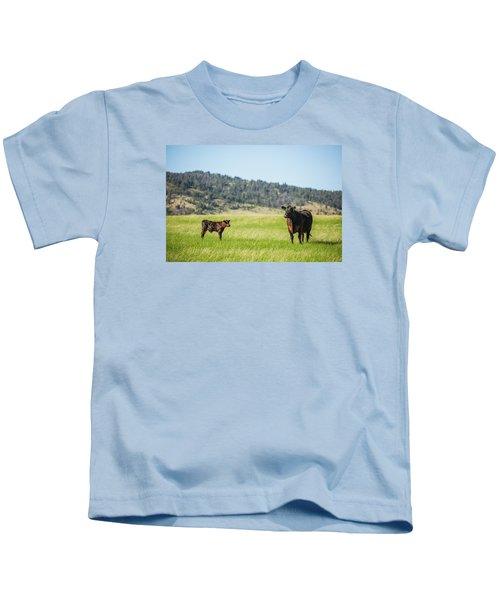 Mama And Her Calf Kids T-Shirt