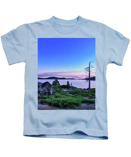 Man And Dog Kids T-Shirt