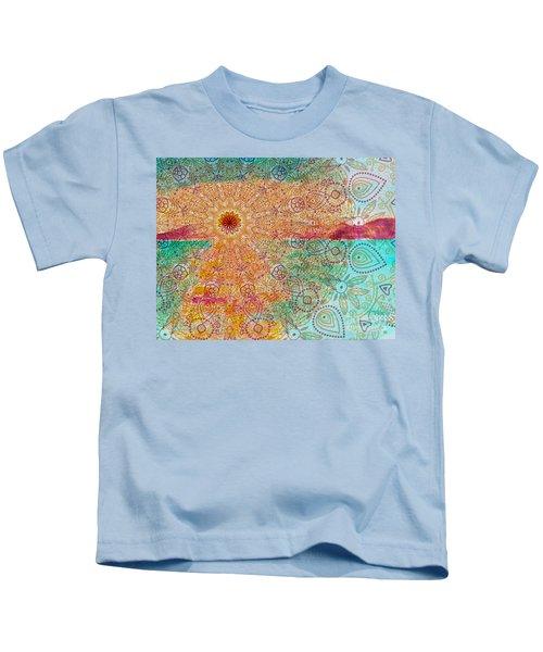 Mandala Sets Over The Dunes Kids T-Shirt