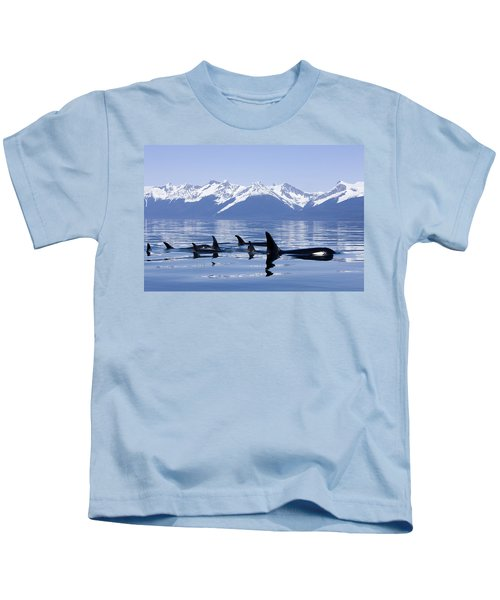 Many Orca Whales Kids T-Shirt