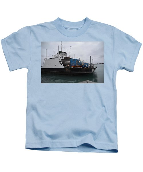 Marine City Mich Car Truck Ferry Kids T-Shirt