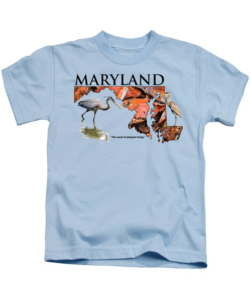Maryland - The Land Of Pleasant Living Kids T-Shirt