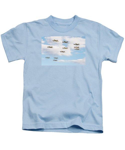 Massed Spitfires Kids T-Shirt