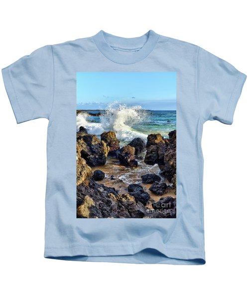 Maui Wave Crash Kids T-Shirt