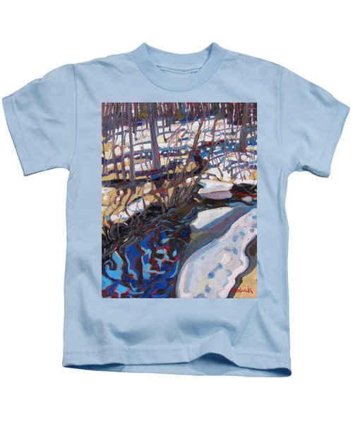 Melt Water And Ice At The Forest Edge Kids T-Shirt