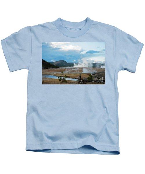 Midway Geyser Area Kids T-Shirt