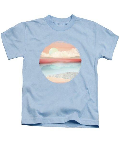 Mint Moon Beach Kids T-Shirt