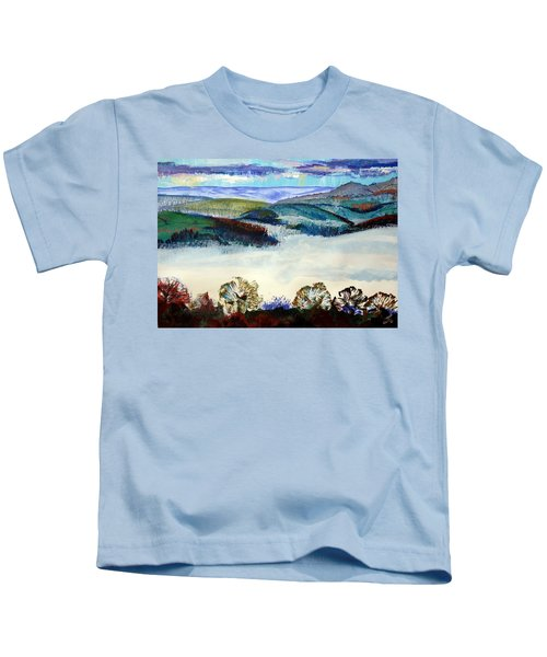 Mist In The Exe Valley In Exeter Devon Kids T-Shirt