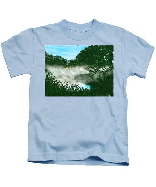 Mist On The River Ouse Kids T-Shirt