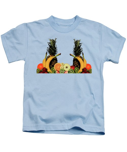 Mixed Fruits Kids T-Shirt by Shane Bechler