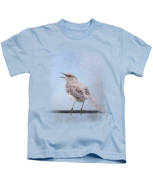 Mockingbird In The Snow Kids T-Shirt by Jai Johnson