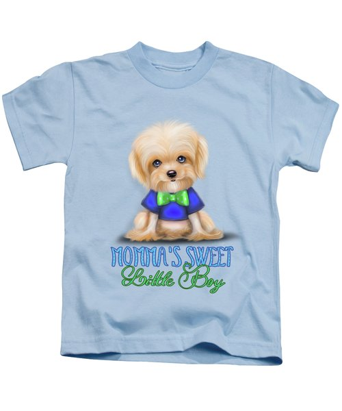 Mommas Sweet Little Boy Kids T-Shirt