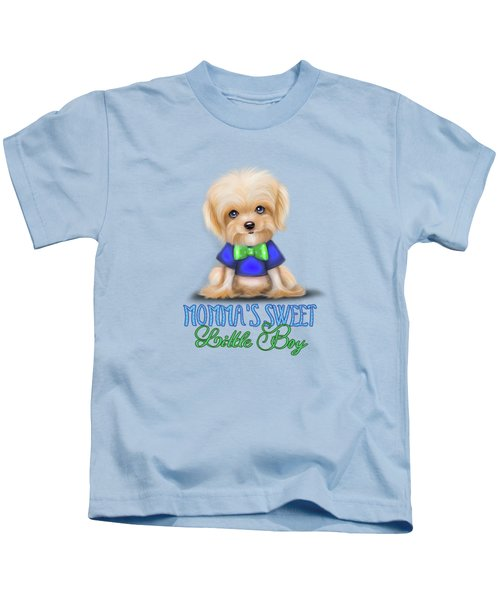 Mommas Sweet Little Boy Kids T-Shirt