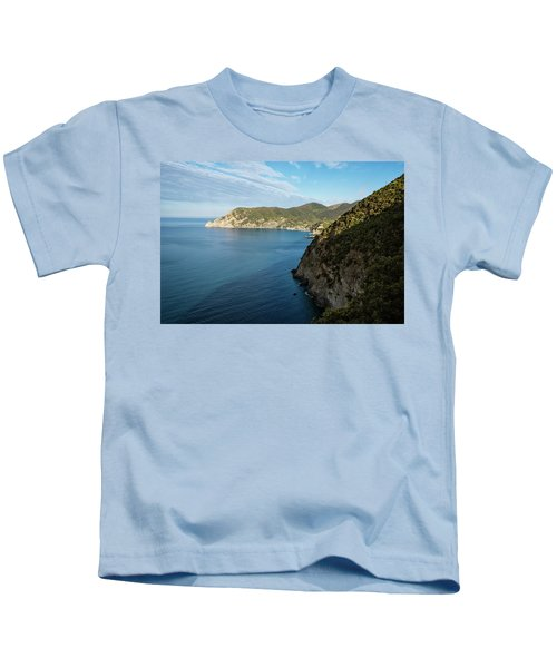 Monterosso And The Cinque Terre Coast Kids T-Shirt